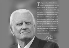 Has Billy Graham Suddenly Turned Political?