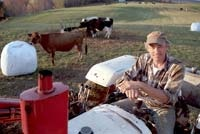 Vermont dairy farmer George Woodard leads a very full life