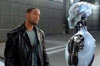 Will Smith and the robot Sonny (Alan Tudyk)