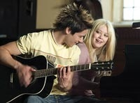 Jay (Oliver James) and Terri (Duff) make, uh, beautiful music together