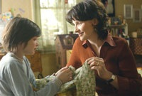 Eliza and her mom (Juliette Binoche) share a tender moment