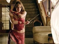Jennifer Garner, in the title role, makes sure her enemies get the point