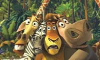 Melman the Giraffe, Marty the Zebra, Alex the Lion, and Gloria the Hippo
