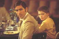 Jim Caviezel and Jake Lloyd as father and son