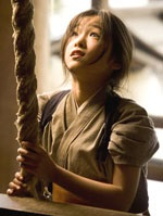 Suzuka Ohgo as the young Chiyo, who becomes a geisha in training