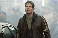 Tom Cruise plays Ray Ferrier, on the run from some nasty aliens