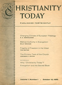 Christianity Today Magazine - October 15, 1956 issue