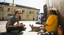 How One Artist Turns Skid Row into Sacred Streets