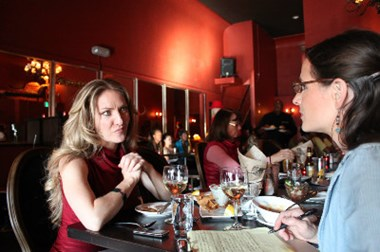 Teresa Goines (left) opened the cafe (named after her mother) in 2005.