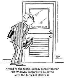 Armed for Teaching Sunday School