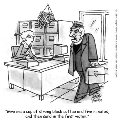 A Bad Day at the Pastor's Office