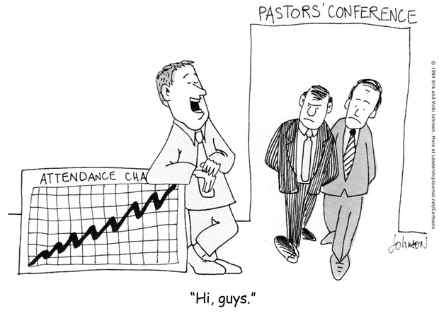 Pastor Boasts in Attendance Chart