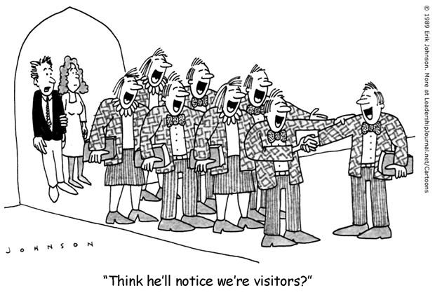 Visitors in a Church of Clones