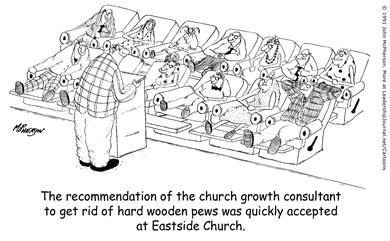 Reclining Church Pews