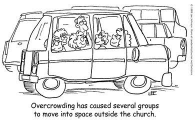 Overcrowded Church Group Space