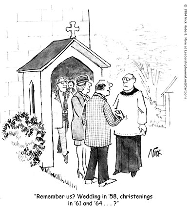 Church Attendance Every 10 Years