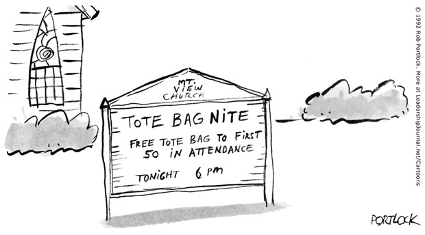 Church Has Tote Bag Night