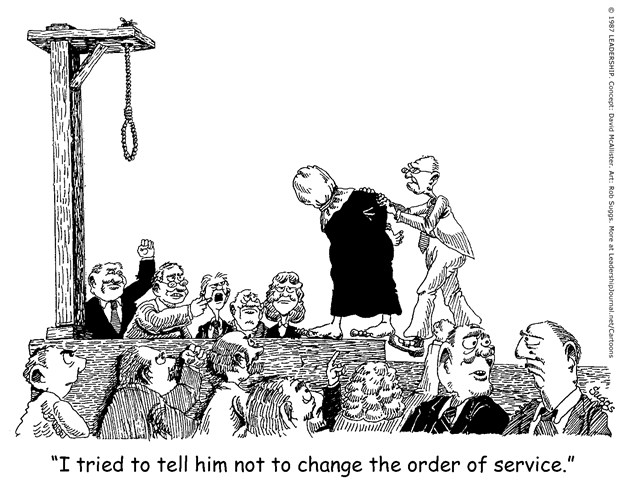 Executed for Changing Worship Order