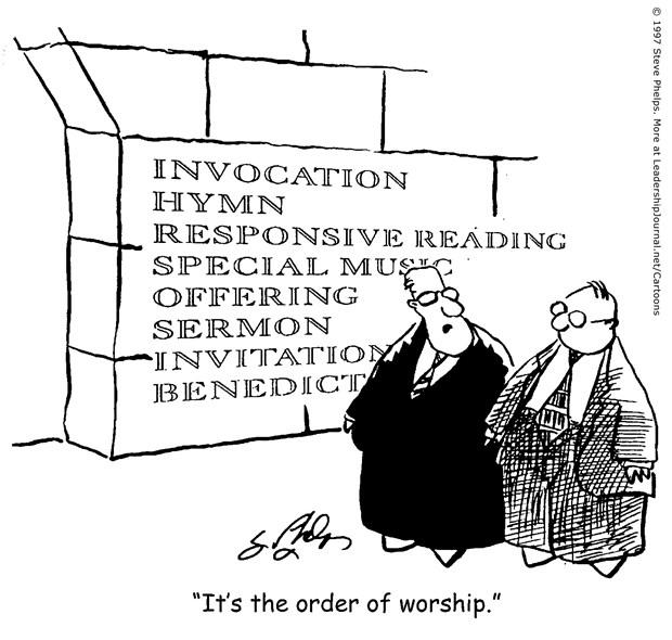 Worship Order Engraved in Stone