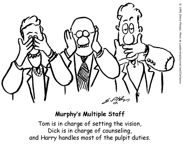 Three Monkeys on Ministry Staff