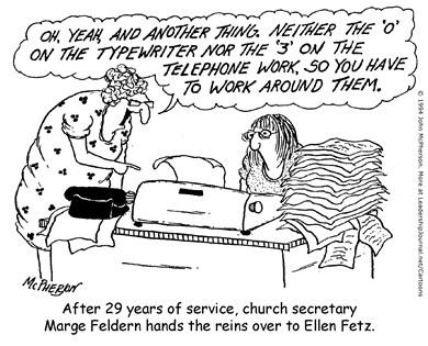 Changing of the Church Secretary