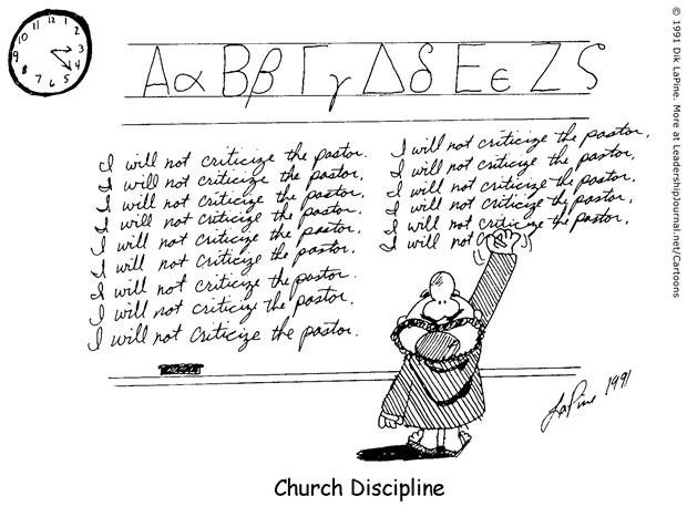 Childish Church Discipline