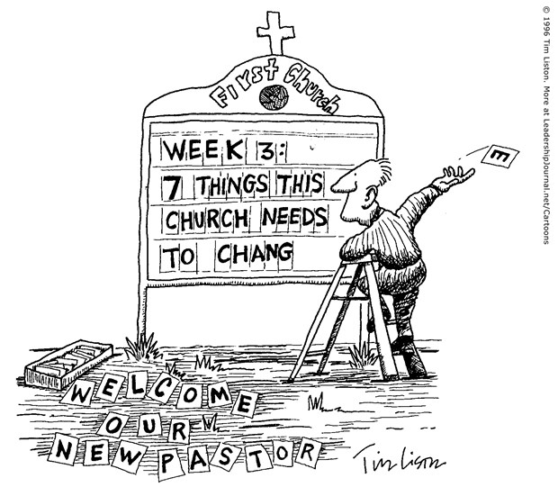 """Church's Only """"Change"""" Is the Pastor"""