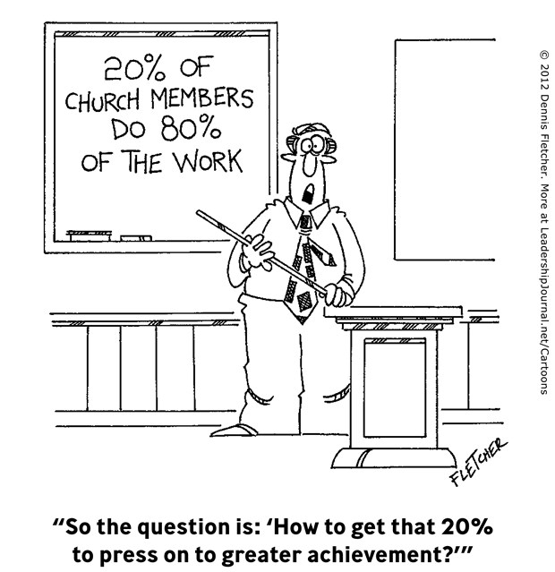 20% of Church Members Do 80% of the Work