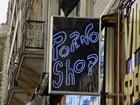 Pornography Shop Sign
