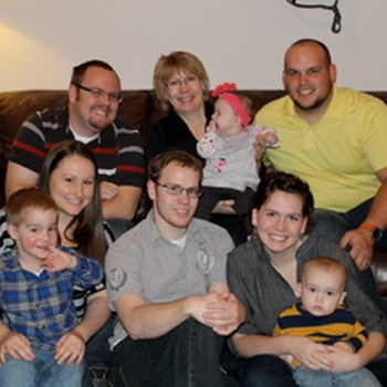Gracia with family in 2012 (from top left): Jeff Burnham; Gracia Burnham with Vanessa Burnham; Andy Hedvall Bottom is Sarah Burham with Tristan Burnam; Zach Burham; Mindy Hedvall with Felix Hedvall