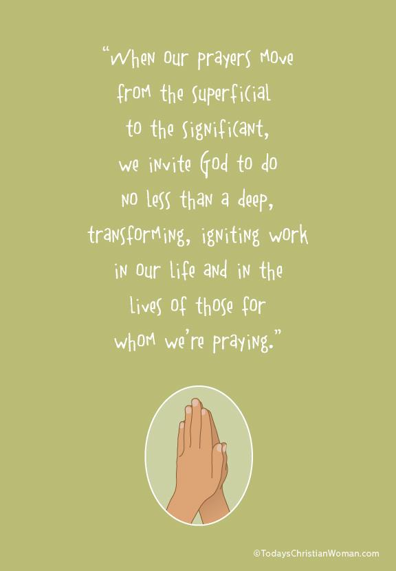 Praying Significant Prayers