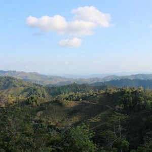 The view of the Honduran countryside in Los Cedros