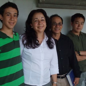 Maria Elena with her sons and husband, Arnoldo