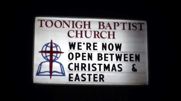 Church Signs of the Week: January 3, 2014