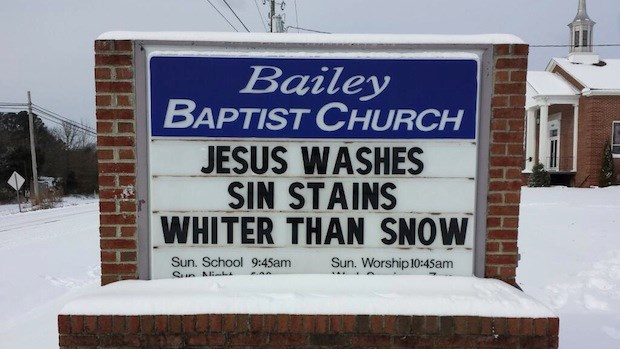 Church Signs of the Week: January 31, 2014