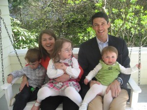 Our best attempt at a family photo at Easter