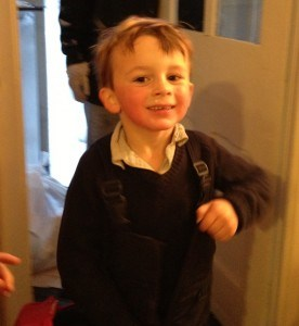 William coming in from the snow