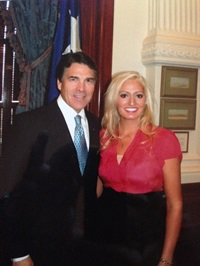 Jenna with Texas Governor Rick Perry