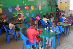 The kids at Bright Future Academy during the school day
