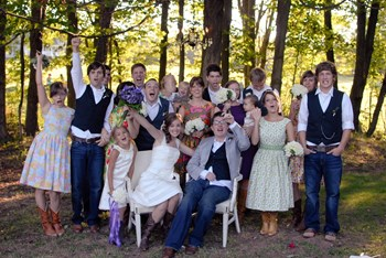 Ian and Larissa at their wedding