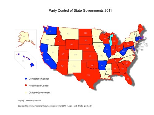 Map Record Number Of State Abortion Laws In 2011 News