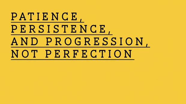 Patience, Persistence, and Progression, Not Perfection