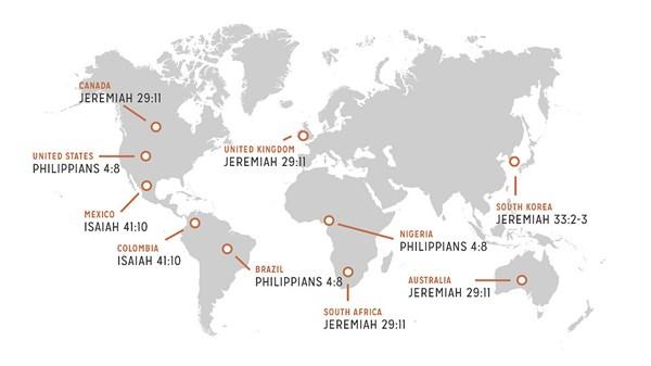 Bible most verses top 10 popular 40 MOST