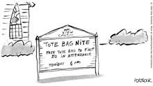 Church Has Tote Bag Night
