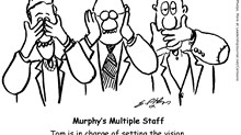 Three Monkeys on Ministry Staff