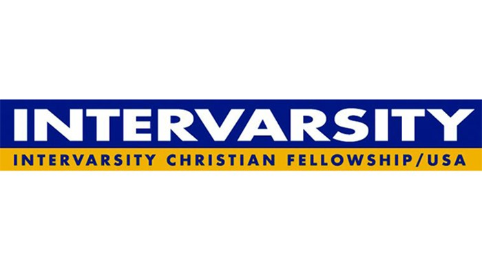 blue and yellow logo for intervarsity christian fellowship