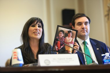 Naghmeh Abedini advocates for her husband.