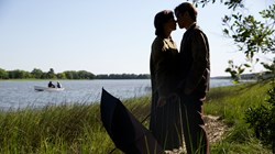 Julianne Nicholson and Takashi Yamaguchi in 'Sophie and the Rising Sun'