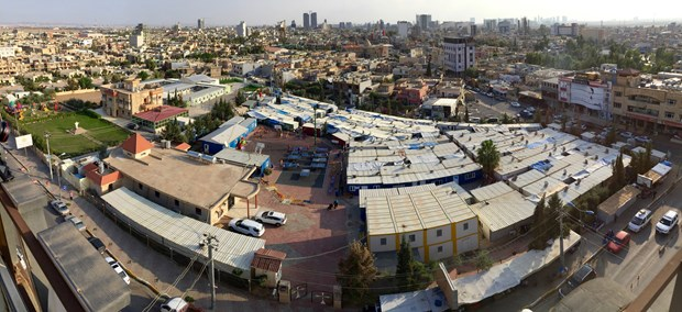 Mar Elia Church has turned its compound in Erbil's Ankawa district into a refugee camp.