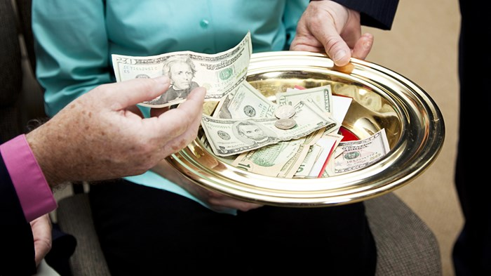 The Ancient Rise and Recent Fall of Tithing